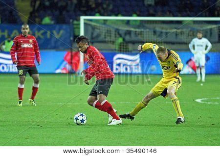Metalist Kharkiv Vs Metalurh Zaporizhya Soccer Match