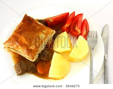 Steak Pie Meal Horizontal