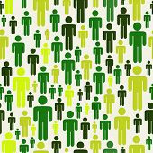 Go Green Social Media People Pattern