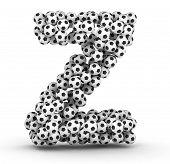Постер, плакат: Буква Z от футбольные мячи футбольные