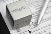 stock photo of integrity  - United States Income tax preparation integrity concept - JPG