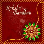 image of rakhi  - Illustration of a Rakhi for Raksha Bandhan festival - JPG