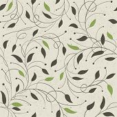stock photo of reuse  - Seamless ecology pattern with leaves - JPG