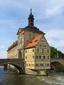 stock photo of regnitz  - The City hall in Bamberg - JPG