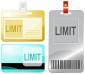 Limit. Id cards. Raster illustration.