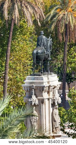Plaza Nueva Ferdinand Statue Seville Andalusia Spain