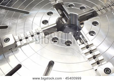 Powerful Industrial Equipment Rotary Table Close-up