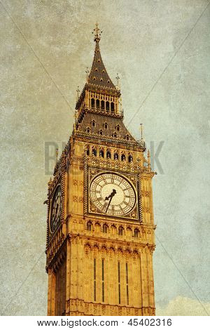 Vintage view of Big Ben