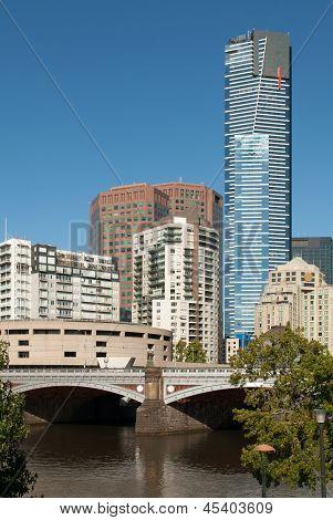 Cena de cidade, Melbourne, Victoria, Austrália