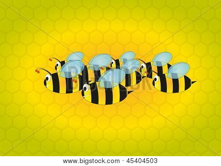 Bees With Beehive