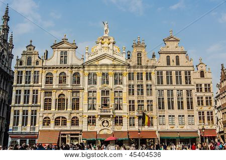 Guildhalls on the Grand Place in Brussels