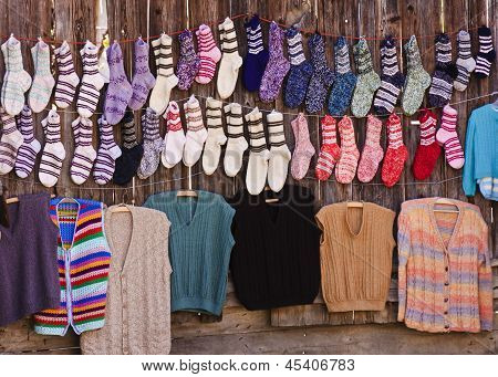 Handmade Wool Socks And Sweaters