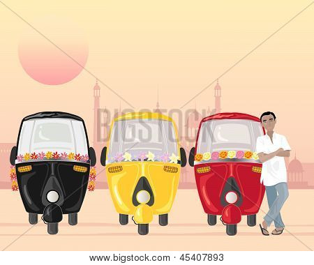 Row Of Tuk Tuks