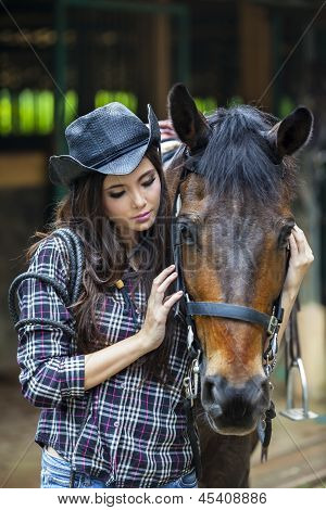 A Friendship Between Girl And Horse