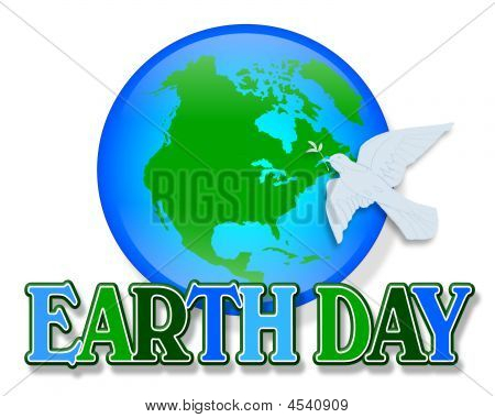 Earth Day Dove Graphic
