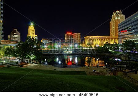 Providence Place, Rhode Island, At Night
