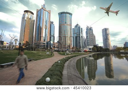 Shanghai Lujiazui landmark city landscape