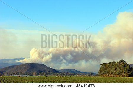 Wild Fire in Point Mugu Mountains, CA