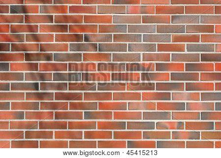 Fulvous brick wall.