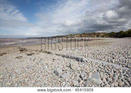Lilstock beach West Somerset England