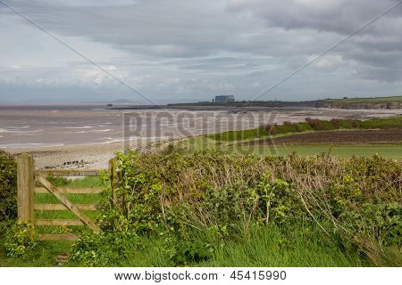 West Somerset Coast Path England and Hinkley Point
