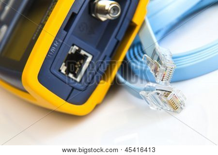 Network Cable Tester For Rj45 Connectors And Coaxial Cable