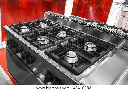 Moderne Gas-Kochstelle