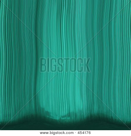 Turquoise Moire Curtain