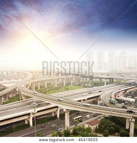 city highway overpass