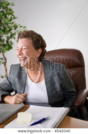 Laughing Female Executive