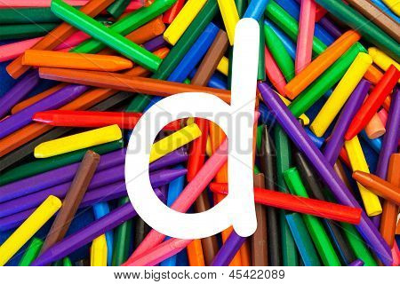Letter D - Alphabet - Lower Case - Education / Schools / Teaching.