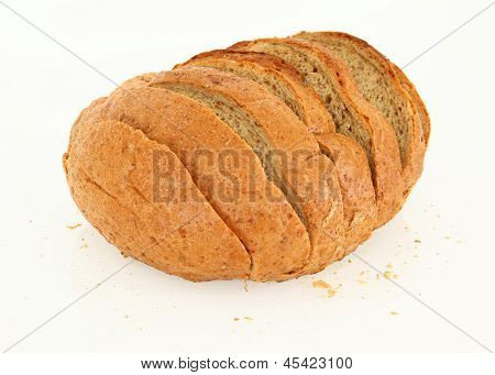 Side View Of Sliced Bread