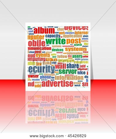 Marketing Advertising Communication Word Cloud Concept