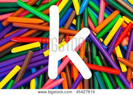 Letter K - Alphabet - Lower Case - Education / Schools / Teaching.