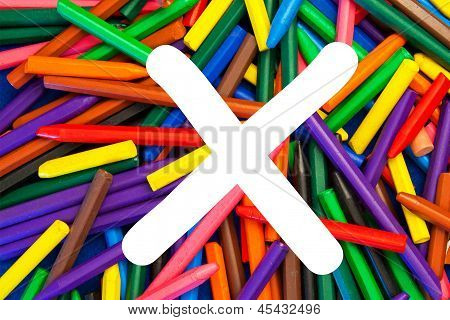 Letter X - Alphabet - Lower Case - Education / Schools / Teaching.