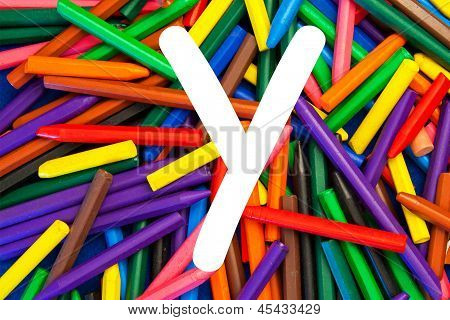 Letter Y - Alphabet - Lower Case - Education / Schools / Teaching.