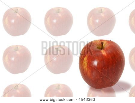 Background With A Red Apple