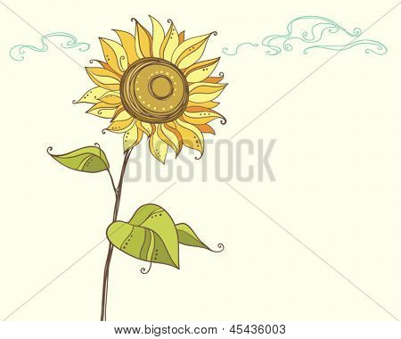 vector stylized sunflower