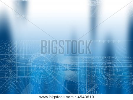 Techbackground Blue