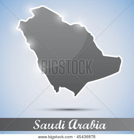 shiny icon in form of Saudi Arabia