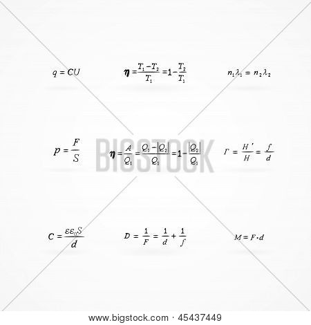 Background With Equations And Formulas