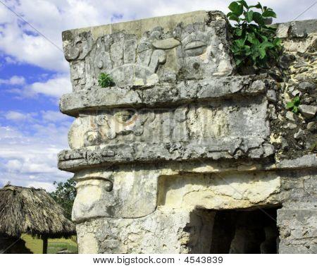 Tulum Ruins Stone Head
