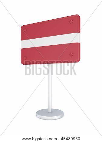 Bunner with flag of Latvia.