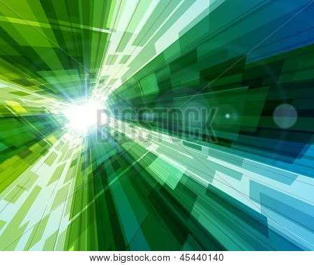 Abstract virtual space with screen vector background. Eps 10.