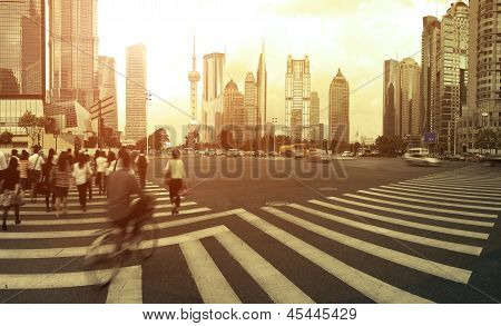 Lujiazui Finance&trade Zone Of Modern Urban Architecture Backgrounds Landscape