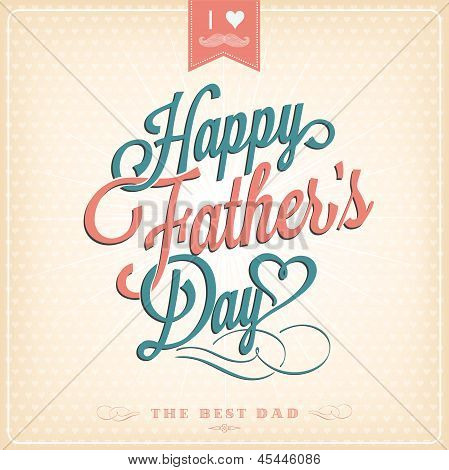 Happy Father's Day Typographical Background