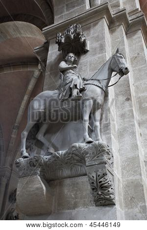 The Bamberg Horseman (Der Bamberger Reiter) - famous sculpture of 13 century, Germany