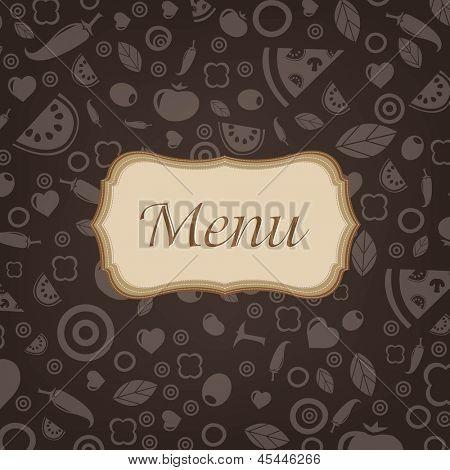 Restaurant Menu Design With Gradient Mesh, Vector Illustration