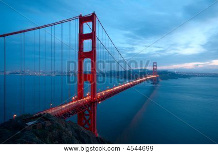 Golden Gate Bridge And An Old Ruin