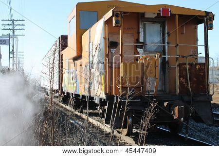 caboose graffiti freight train